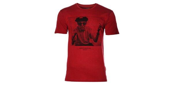 """Pánské rudé tričko Eleven Paris """"Sheitan"""""""