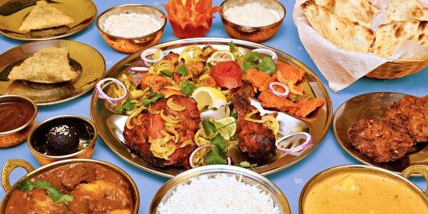 Velké i malé indicko-bangladéšské menu pro 2 osoby