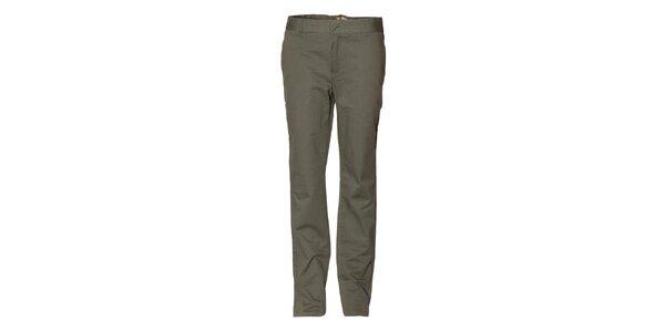 Pánské tmavě zelené chino kalhoty Eleven Paris