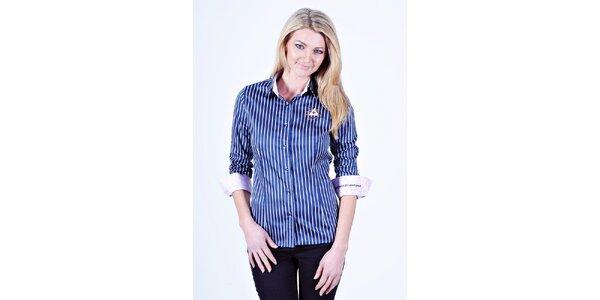 Dámská modro-bílá košile s proužkem Pontto