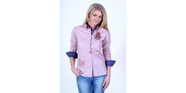 Dámská růžová jachtařská košile Pontto