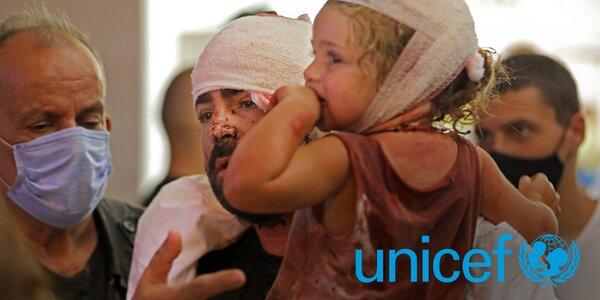 Pomozte s UNICEF dětem po explozích v Bejrútu
