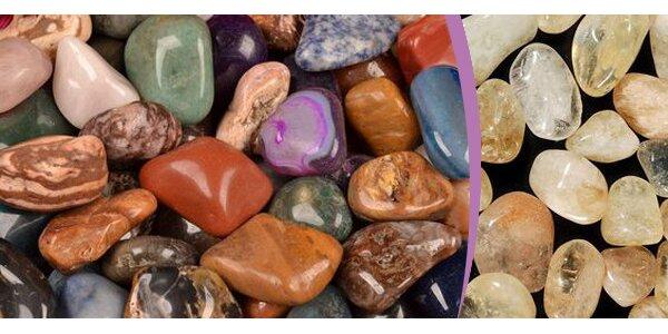 Leštěné drahé kameny - mix nebo citrín