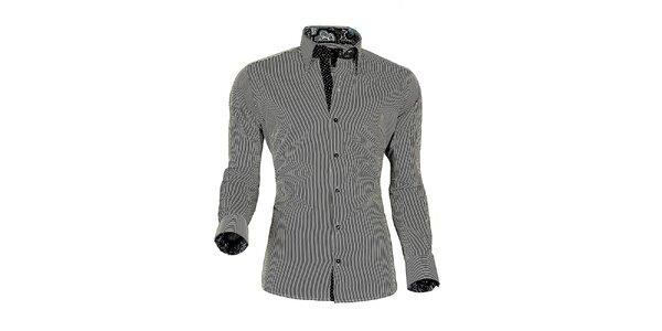 Pánská černo-bílá proužkovaná košile z Premium kolekce Pontto