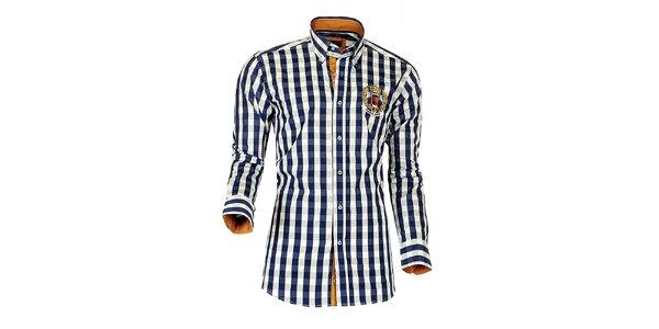 Pánská modro-bílá kostkovaná košile Pontto