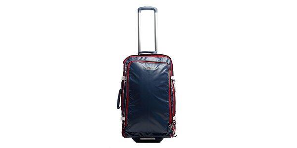 Modrý cestovní kufr na kolečkách Tommy Hilfiger