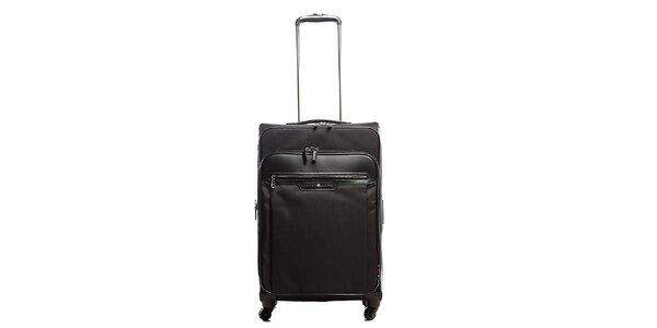 Velký černý kufr se čtyřmi kolečky Tommy Hilfiger