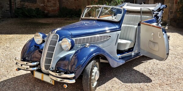 Projížďka luxusním veteránem BMW z roku 1938