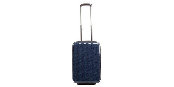 Malý modrý cestovní kufr s červeným vnitřkem Tommy Hilfiger