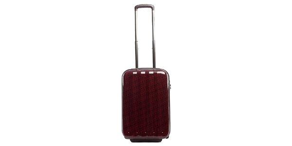 Malý červený cestovní kufr s šedým vnitřkem Tommy Hilfiger