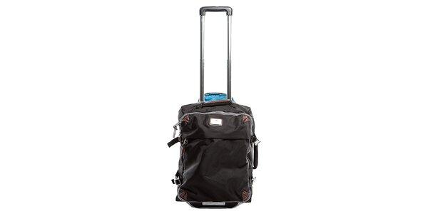 Černý nylonový cestovní kufr na kolečkách Tommy Hilfiger