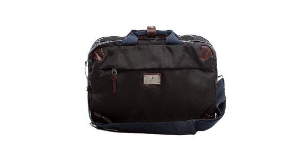 Černá taška na dokumenty a laptop Tommy Hilfiger