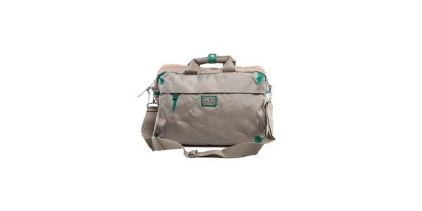 Béžová cestovní taška se zelenými detaily Tommy Hilfiger