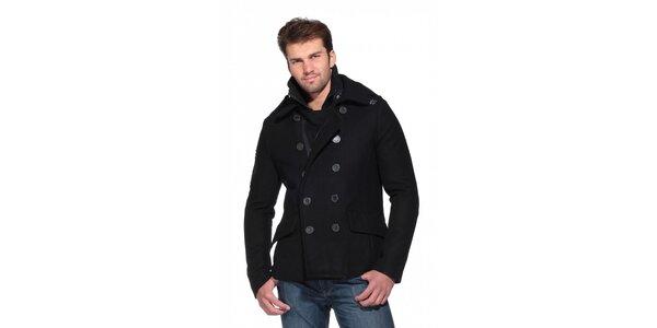 Pánský černý kabát Superdry