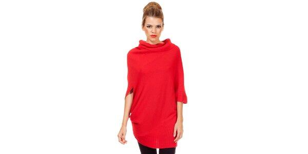 Dámský volný červený svetr Missing Johnny