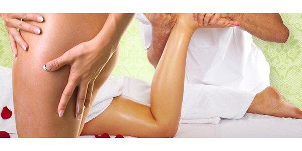 Ruční masáž proti celulitidě. Účinně nabourá tukové buňky
