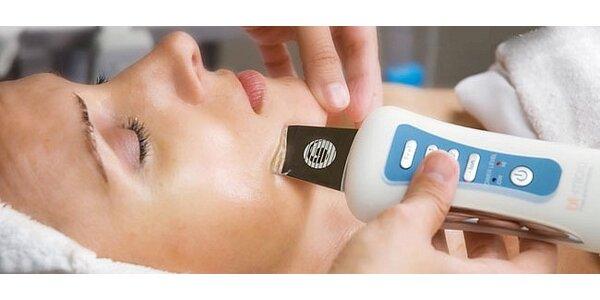 Liftingové ošetření pleti s hloubkovým čištěním ultrazvukovou špachtlí