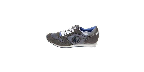 Pánské tmavě šedé tenisky s modrými detaily Wrangler