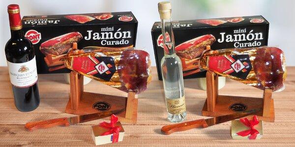 Dárkové balení španělské sušené kýty Jamón Curado