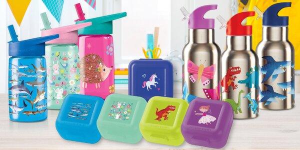 Boxy na svačinu a lahve s pítkem pro kluky i holky