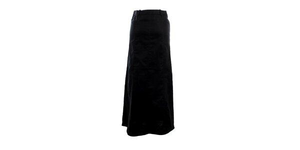 Dámská dlouhá černá rozšířená sukně Next
