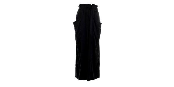 Dámská dlouhá černá nařasená sukně Next