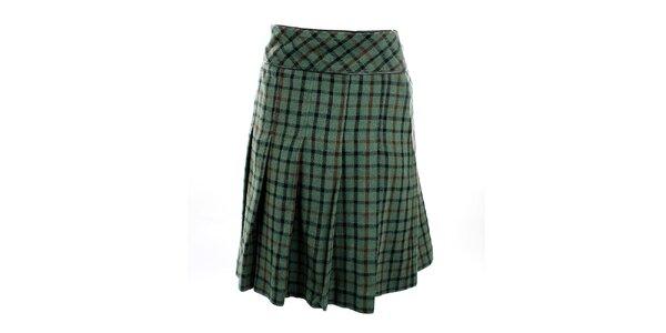 Dámská zelená kostkovaná sukně Next