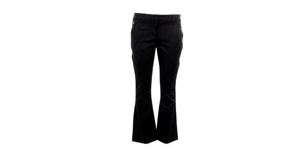 Dámské černé kratší kalhoty do zvonu Next