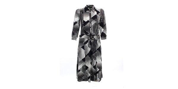 Dámské černo-bílé šaty Mexx