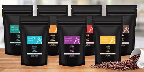 Degustační kávy Alesio: 6 nebo 7 balíčků