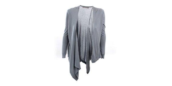 Dámský šedo-modrý asymetrický svetr Next