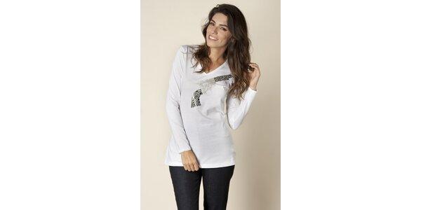 Dámské bílé tričko Trussardi s potiskem