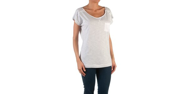 Dámské šedo-bílé pruhované tričko Womens Secret
