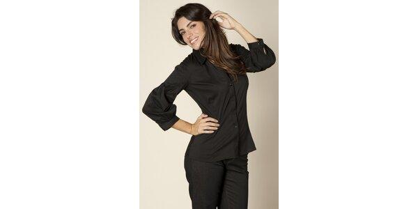 Dámská černá saténová košile Trussardi