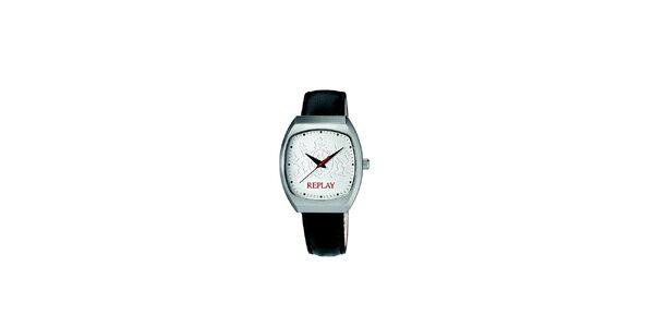 Dámské stříbrno-černé analogové hodinky Replay