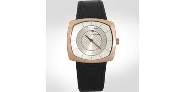Dámské analogové hodinky se zlatým lemováním Replay