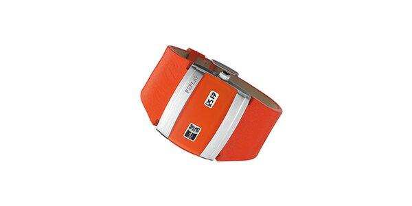 Pánské oranžové hodinky Replay