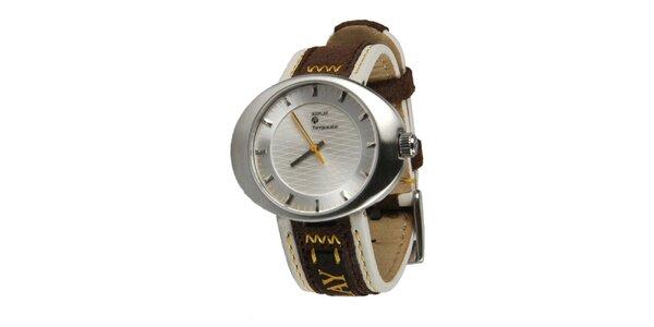 Pánské stříbrné hodinky se žlutou vteřinovkou Replay