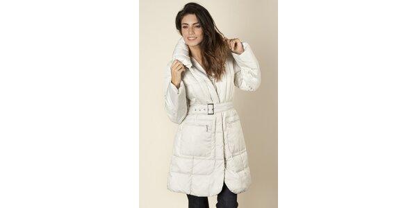 Dámský bílý prošívaný kabát Trussardi