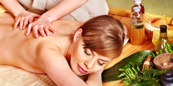 60min. masáž šíje, zad a ramen přírodními oleji