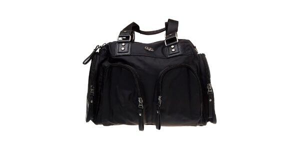 Dámská černá nylonová taška Buffalo