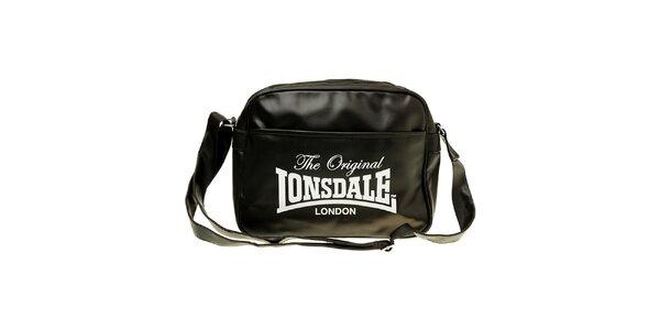 Pánská černá taška s popruhem Lonsdale