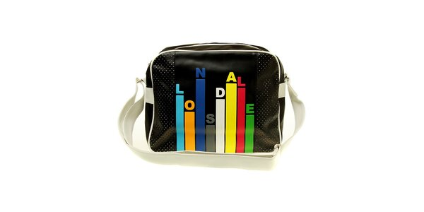 Pánská černá taška s barevným potiskem Lonsdale