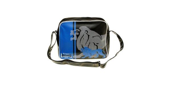 Pánská černo-modrá taška s potiskem Lonsdale