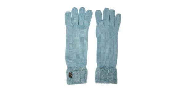 Dámské tyrkysové rukavice Pietro Filipi s chlupatým lemem