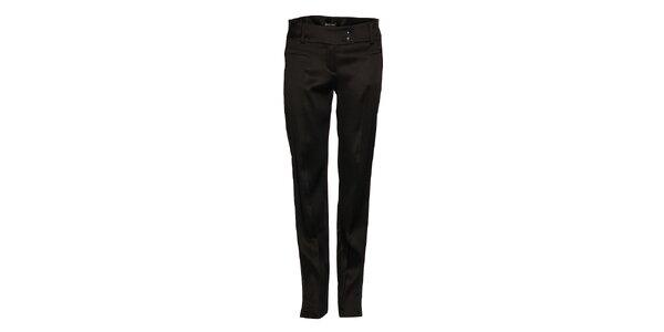 Dámské černé saténové kalhoty Pietro Filipi s puky
