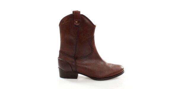Dámské hnědé kovbojské boty Levis