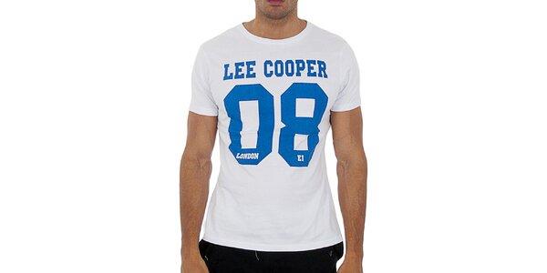 Pánské bílé tričko s potiskem Lee Cooper