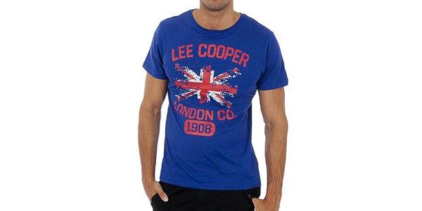 Pánské modré tričko s potiskem Lee Cooper