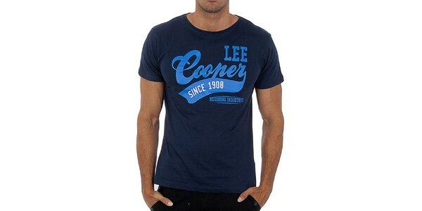 Pánské tmavě modré tričko Lee Cooper